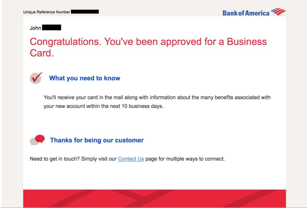 How To Check Bank Of America Credit Card Application Status The